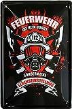 Feuerwehr ist kein Hobby sondern Lebenseinstellung 20x30 cm Deko Blechschild 821