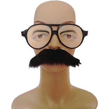 MagiDeal Paire Lunettes Drôles Sourcils Moustache Gros Nez Unisexe ... b8806d821c6a