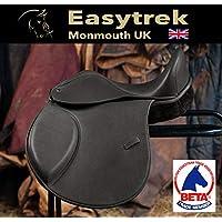 Easytrek - Sillín de Piel sin árbol, árbol Flexible, Negro o marrón