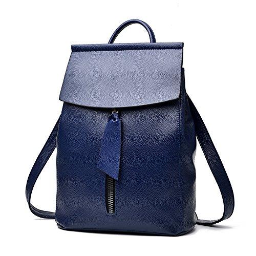 Mefly Nuova Ondata Di Donne Zaino Nuovi Studenti Fashion Leisure Claret Royal Blue