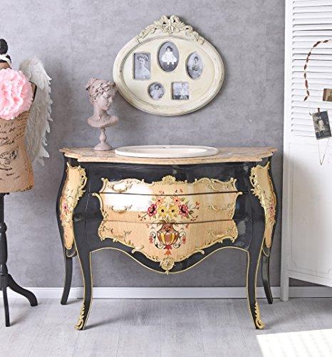 Unbekannt Waschtisch Barock Kommode Louis XV Waschbecken Badmöbel Antik Waschplatz Palazzo Exklusiv (Antike Kommode Französische)