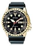 Citizen Hombre Analog Reloj Automático con Caucho Pulsera nh8383–17ee