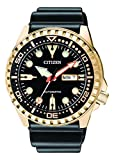Citizen Herren Analog Automatik Uhr mit Kautschuk Armband NH8383-17EE