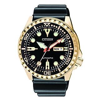CITIZEN Reloj Analógico para Hombre de Automático con Correa en Caucho NH8383-17EE