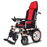 JL-Q Elektrischer Rollstuhl Intelligente automatische tragbare Roller Falten elektrischen Rollstuhl Älteren und Behinderten starken Dual-Motor-Rollstuhl [Energie-Grade A +]