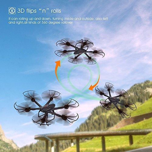 Live Video FPV Drohne mit Kamera MJX X600 Drone Quadcopter Throttle Limit Ein Key rückwärts VR Kompatibel - 3