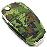 Schlüssel Hülle AB für 3 Tasten Auto Schlüssel Silikon Cover von Finest-Folia (.Camouflage)