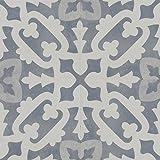Zementfliesen Optik Gotik Bondone 22,3x22,3cm | Boden-Fliesen | Zement-Fliesen | Dekor | Fliesen-Bordüre | Ideal für den Wohnbereich (auch als Muster erhältlich) (Paket)