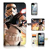 ( For iPhone 6 Plus / iPhone 6S Plus ) Flip Wallet Case Cover & Screen Protector Bundle - A21006 Starwars Stormtrooper