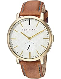 43850642599 Ted Baker Men s  TRENT  Quartz Stainless Steel and Leather Casual Watch