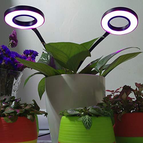 Lorenlli 24 W Double Tête Flexible 360 Degré Clip Conception LED Plante Croissance Lumière Plante Fleur Légume Culture De Culture Intérieure Hydroponique Lumière