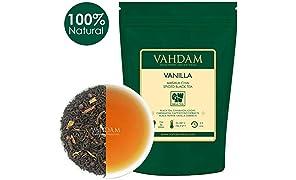 VAHDAM, Vanilla Spiced Masala Chai | 200g (100 tazze) | Masala Tea Chai | Deliziosa miscela di tè alla vaniglia | Tè speziato Chai | Brews Chai Latte | Tè nero | Chai Tea dall'India