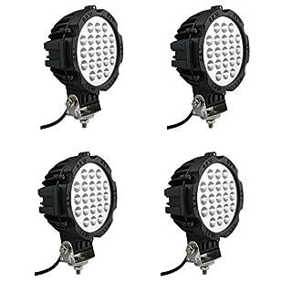 4 x 12/24V Arbeitsscheinwerfer 63W Offroad Scheinwerfer 21 LED Strahler IP67 Neu