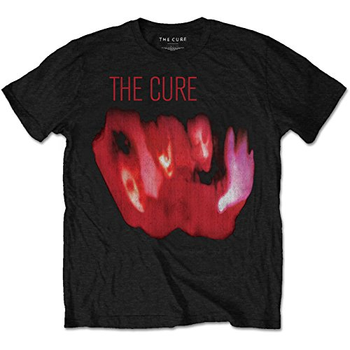 The Cure Pornography Robert Smith Goth Rock Officiel T-Shirt Hommes Unisexe (X-Large)