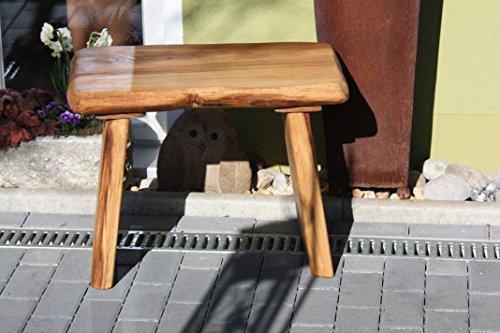 massive Holzbank aus Eichenholz handgefertigt rustikal
