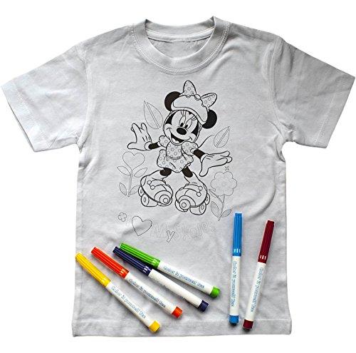 irt zum Ausmalen mit Minnie Mouse-Aufdruck, inkl. Stiften (128-134) ()