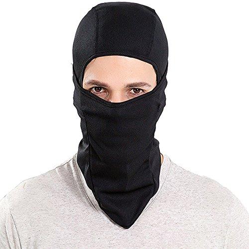 DODOING Balaclava Winter Fleece Ski Gesichtsmaske Nacken-Wärmer für Damen Herren Jugend Tactical Hood für Motorrad Snowboard Radfahren Outdoor Winddichte Hut-Schwar