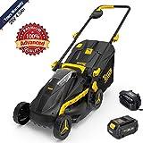 TECCPO Cordless Lawn Mower Advanced, 28V 4.0Ah Battery Portable Lawn Mower, 500 Square