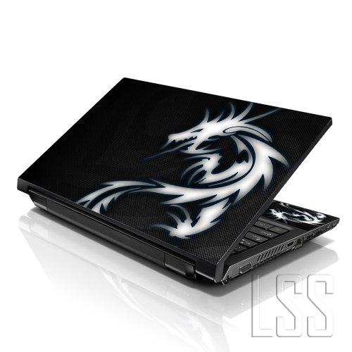 'LSS 17pollici laptop notebook Skin cover adesiva Decal adatta per 41,9cm 43,2cm 43,9cm 46,7cm 48,3cm HP Dell Apple Asus Acer Lenovo Asus Compaq (2adesivi sotto polsi inclusi Gartuitamente) Dragon