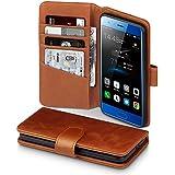 Honor 9 Case, Terrapin [ECHT LEDER] Brieftasche Case Hülle mit Standfunktion Kartenfächer und Bargeld für Huawei Honor 9 Hülle Cognac