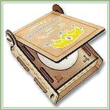 CANDLE IN THE BOX Geschenk-Box für Patenonkel mit Botschaft & Kerze | Personalisiert mit Bild und mit Namen | Bester Patentonkel der Welt