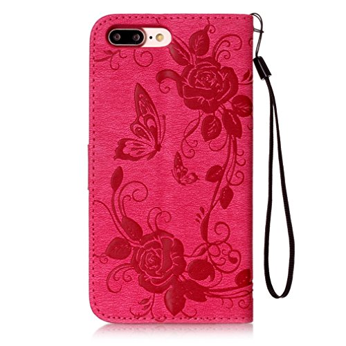Mk Shop Limited Étui en PU Cuir pour iPhone 7 plus, Housse Coque de Protection iPhone 7 plus Flip Cover Case à Rabat Motif Relief Support Portefeuille avec Fermeture Magnétique Multi-couleur 1