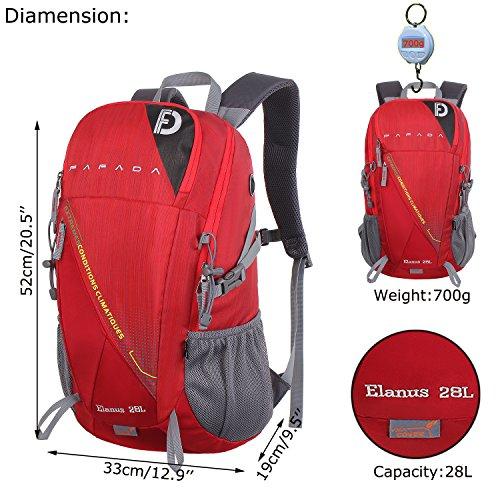Imagen de fafada 28l unisex  de senderismo viaje marcha del deporte casual escalada trekking con cubierta de lluvia?impermeable rojo alternativa