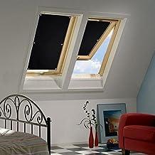 Auralum® 96*93cm Revestimiento de persiana parasol para Velux claraboya con estructura de azúcar sin necesidad de taladrar
