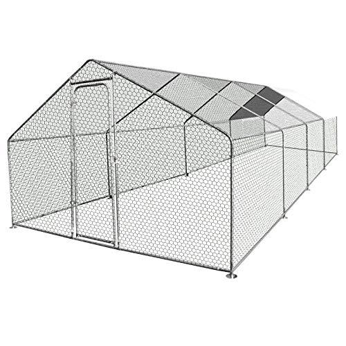 IDMarket - Enclos poulailler 24M² Parc grillagé 8X3M...