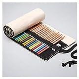 XIAOXINYUAN Couleur Solide Art Student Poche Crayon Stylo Aquarelle De Grande Capacité De Stockage Sac De Cadeaux De Papeterie Scolaire 24 Trous