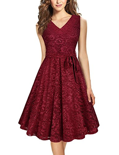 vaidehi creation Women\'s Crepe Silk Dress (Maroon_Free Size)
