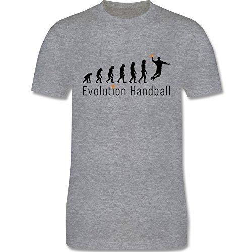 Evolution - Handball Evolution Sprungwurf - Herren Premium T-Shirt Grau Meliert