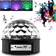 Besmall 20W Bola LED RGB de DJ Discoteca Estroboscópico Música SD MP3 + Mando Controlar