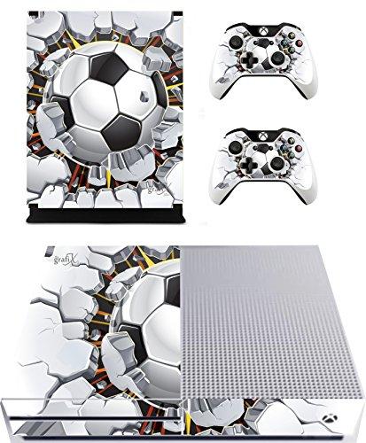Fußball Brick Sticker/Skin Xbox One S Konsole und Fernbedienung Controller Aufkleber, xbs6