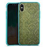 DeinDesign Apple iPhone XS Slim Case transparent hellblau Silikon Hülle Schutzhülle Wallpaper Tapete Vintage
