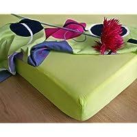 JERSEY drap-housse 180x200 limonène vert! qualité excellente! fabriqué en UE!
