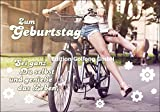 Glückwunschkarte Geburtstag ~ Mädchen mit Fahrrad ~ Sei Du ganz selbst
