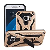 Forhouse Phone Hülle für Samsung Galaxy S7 Hülle Skin Durable Protective Case Back Bumper Cover [ Golden ]