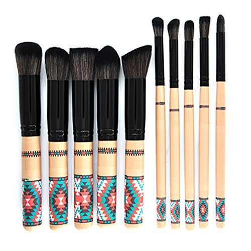 Scrox 1x (10 pcs) Combinaison de pinceaux de Maquillage Professionnel Style National Outils de Maquillage