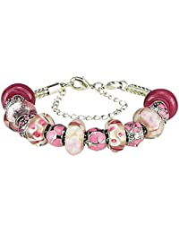 Bouleau blanc Charm Bracelets et charms pour femme Noir Rouge Violet bleu rose Vert 19cm une rallonge de 8cm
