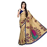 Shreeji Ethnic WomenS Cotton Silk Saree (Mor Saree_Multicolor)