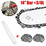 Toran Home 3pcs / Set 14'Bar + 3 / 8L 2pcs Cadenas 50 Drive Link Fit For Stihl 018 MS180 MS181 Sierra de Motosierra