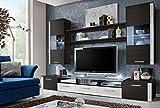 Fresh–TV Unterschrank/TV Steht/Wohnwand/Möbel Modern/Hochglanz/erhältlich in 5Farben Modern braun