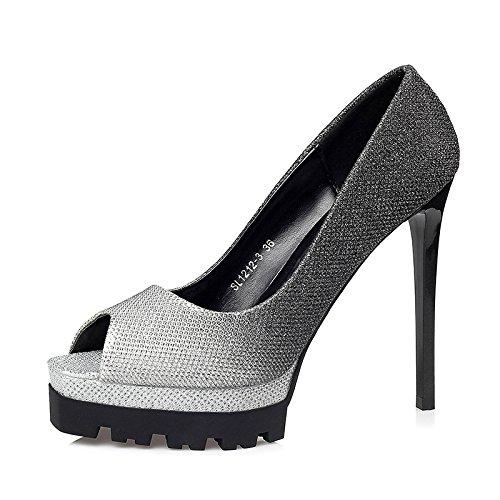 FLYRCX Impermeabilizzazione europea pad sexy colore rastremata belle e poco profonde lady tacco alto scarpe di partito A