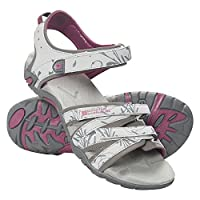 Mountain Warehouse Santorini Womens Sandals - Adjustable Straps Ladies Shoes, Cushioned Insole Beach Beach Shoes, Rubber Outsole Summer Shoes - for Walking, Travelling