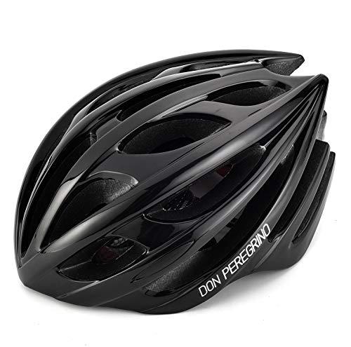Don peregrino lucido casco bici uomo donna adulto, casco sportivo ultraleggero & modellato integralmente