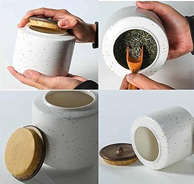 Petits accessoires de thé de Kung Fu de canisters de thé de porcelaine d'os de ménage, points blancs