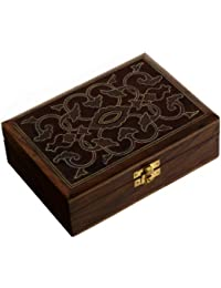 Indian Jewelry Holder - 17.5 x 12.5 x 5.3 cm Jewelry Boxes for Bracelet Anniversary Gift
