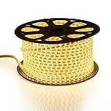 VADOO-Wasserdicht 220V IP65 SMD 2835 LED Streifen LED-Strip LED Band Streifen LED Strip-Licht Superhell (60 LEDs/Meter) (10m warmweiß) [Energieklasse A+]