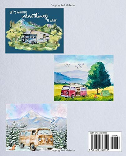 Life's An Adventure 2020 Calendar: Weekly Monthly Jan 1, 2020 to Dec 31, 2020 | Watercolor Camper Forest Landscapes… 2